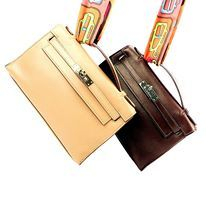 Model : Kelly Pochette, Price : Please email us at luxuryvintagekl@gmail.com, Material : Switf leather, Hardware : Gold, Color : Caramel Brown, Condition : Good, Measurement : L 8.5 x H 5 x W 2.5 inches。