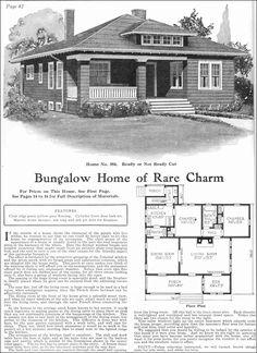 1918 Craftsman-Style Bungalow Kit House - Gordon Van Tine - Model No. 584