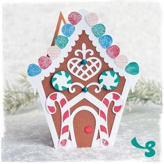 DIY Gingerbread House Card from SVGCuts