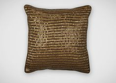 A gold mine of great design! Golden Ribbed Pillow - Ethan Allen. #pillow #decor #gift #livingroom #holidays