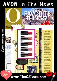 #Oprah Favorite Things -#Avon True Color Lots of Lips. Love Avon Lip Samples?  Get a box full that will last your through the entire year!  It's a very Merry Kissmas with this 80-piece assortment of Avon True Color minis that's perfect for a variety of festive looks. Reg. $30. WHILE SUPPLIES LAST! #FreeShipping #Gift #WhileSuppliesLast #OprahsFavoriteThings #LipstickMinis #GiftBox #C25 #LimitedTime #GWP #LotsOfLips #Sale #AvonLips Shop online @ www.TheCJTeam.com