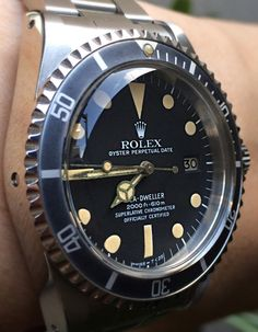 Rolex Watches Collection : - Watches Topia - Watches: Best Lists, Trends & the Latest Styles Best Watches For Men, Luxury Watches For Men, Cool Watches, Rolex Watches, Vintage Rolex, Vintage Watches, Antique Watches, Rolex Oyster Perpetual Date, Swiss Army Watches