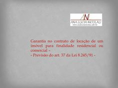 Ana Lucia Nicolau - Advogada: Garantias da locação -