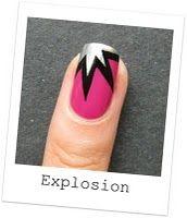 Explosion nail art