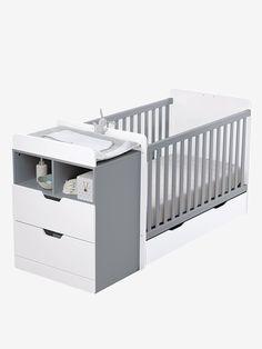 Lit combiné enfant évolutif Combilit - Blanc/bois+Blanc/gris - 5