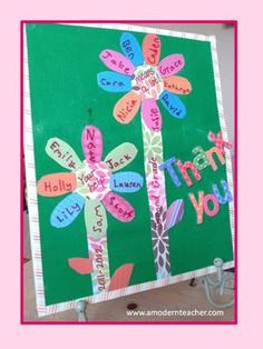 Here is another little idea to say thank you to your volunteers.