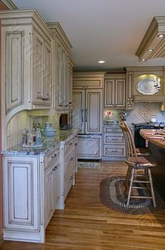 Custom Made Kitchen Cabinets distressed kitchen cabinets | build your own distressed kitchen