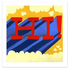 Hi Type Print | Tad Carpenter Creative, art