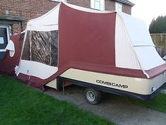 Combi c& trailer tent folding c&er & Shabby Chic Conway Tardis Folding Camper Trailer Tent Refurbished ...