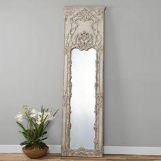 Uttermost Castellana Gray-Ivory Leaner Mirror - 27W x 95H in. - 13914