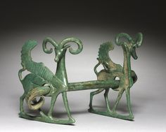Winged Ibex Horse Bit, 800-600 BC Luristan, Iran, 800-600 BC  bronze, cast and incised