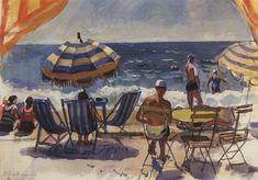 "Zinaida Yevgenyevna Serebriakova Ukrainian, 1884-1967) ""Menton. Beach with…"