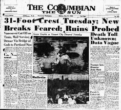 May 30, 1948: Vanport was destroyed in May 1948 when a 200-foot section of a dike holding back the Columbia River broke.