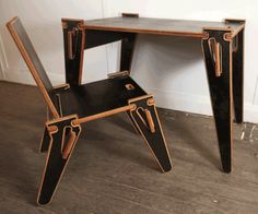 flat pack desk and chair
