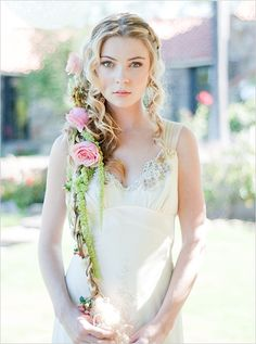 """""""tangled"""" hair! perfect for a bohemian wedding!"""