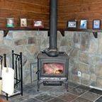 Stone Surround for Wood Burning Stove - Traditional - Basement - chicago - by ADV MASONRY