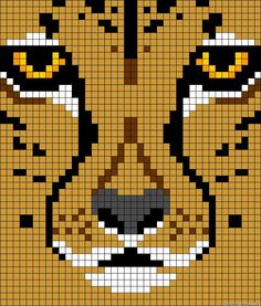 Animal mountain lion cross stitch.