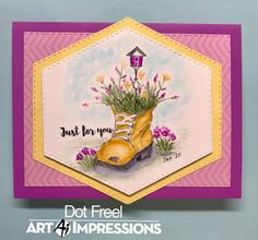 Creations by Dot J.: Art Impressions New Release March 2020 Watercolor Design, Watercolor Cards, Watercolor Ideas, Pink Roses, Pink Flowers, Art Impressions Stamps, Barnyard Animals, Flower Images, Flower Boxes