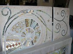 Mosaic Wall Art, Mirror Mosaic, Glass Wall Art, Tile Art, Mosaic Glass, Mosaic Tile Designs, Mosaic Patterns, Stained Glass Patterns, Mosaic Tiles