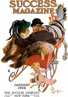 J. C. Leyendecker - Success Magazine cover (January 1908)