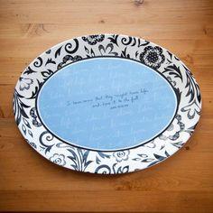 Bible Verse Serving Plate