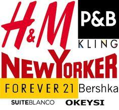 My favorites clothing stores #fashion #blogger #fashionblogger #kling #newyorker #hm #f21 #forever21 #okeysi #blanco #suiteblanco #bershka #fashioninstagramer #promoter #branding #pullandbear #fashionista #blogpost