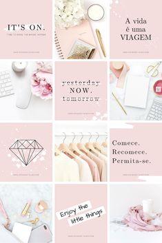 Instagram Design, Layout Do Instagram, Flux Instagram, Instagram Feed Planner, Instagram Feed Ideas Posts, Instagram Grid, Pink Instagram, Ig Feed Ideas, Instagram Blog