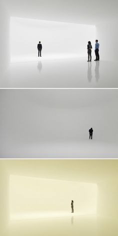 """Doug Wheeler's light installation in NYC. """"...it feels as though you're stepping into the void. The minute the light box is entered, all depth perception disappears."""""""