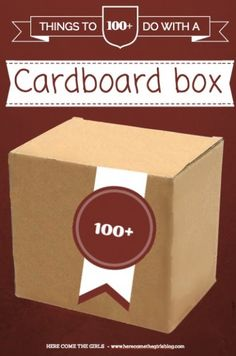 100 Ways to use a Cardboard Box - Lots of crafts for kids using cardboard boxes - perfect for Boxing Day! Used Cardboard Boxes, Cardboard Crafts, Cardboard Furniture, Craft Activities For Kids, Preschool Activities, Kindergarten Crafts, Winter Activities, Crafts To Do, Crafts For Kids