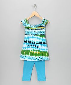 Take a look at this Blue Tunic & Leggings - Infant, Toddler & Girls by Danica and Dylan on #zulily today!