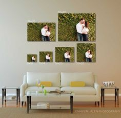 How to size the photo for above your couch