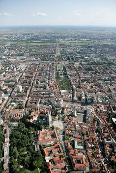 We love this aerial view of the Zagreb. Looking South, the bottom of the photo is Zagreb's Upper Town with the middle looking to the Lower Town. Further up the picture you'll see the Sava River that stretches across the photo