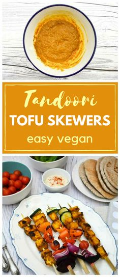 Marinated tofu and vegetable kebabs are great grilled on the BBQ or cooked under the grill for that summer charred barbecue flavour. The tofu is pressed left in a traditional Indian tandoori paste for lots of flavour. Skewer Recipes, Tofu Recipes, Indian Food Recipes, Vegetarian Recipes, Vegan Meals, Healthy Recipes, Grilled Tofu, Marinated Tofu, Grilled Vegetables