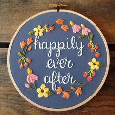 Happily Ever After embroidery hoop art                                                                                                                                                      Mais