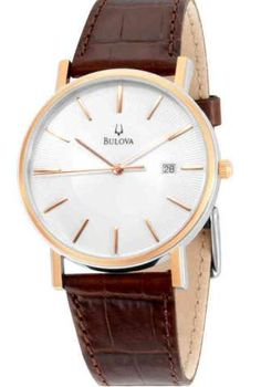 Bulova Gents Rose Gold Plated Watch 98H51 | First Class Watches