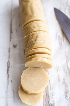 Easy Slice 'n' Bake Vanilla Bean Christmas Sugar Cookies w/Whipped Buttercream.