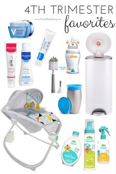 Some of my favorite products for new moms, babies and toddlers, including Fisher Price Premium Auto Rock 'n Play Sleeper, Mustela, Vichy and Munchkin!