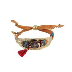 Armband, Feder, Folklore, Ethno-Look Vorderansicht