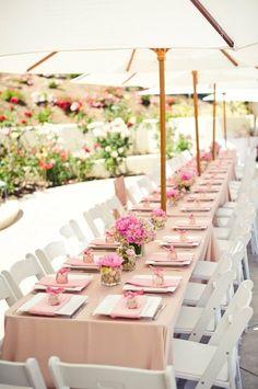Picture Of Summer Wedding Table Decor Ideas-Summer Wedding Decor Ideas Shower Inspiration, Wedding Inspiration, Summer Wedding, Wedding Day, Wedding Parties, Wedding Reception, Trendy Wedding, Garden Wedding, Wedding Backyard