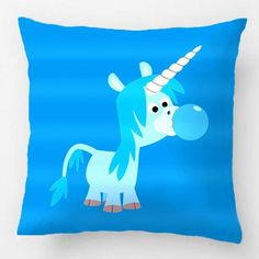Blowing bubbles pillow case makes a good unicorn party supplies pick because will bring a smile to whomever views it. This choice for unicorn party supplies is a pillow case features a young horned character blowing bubbles with bubble gum.  Unicorn Shops party supplies is not limited to Pinterest, visit our website at www.unicornshops.com to buy from one of the largest selections.  This blowing bubbles unicorn pillow case comes in 18 x 18 Inch, 12 x 20 Inch and 20 x 20 Inch