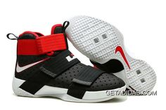 7debd7ff1e75 Nike Lebron Soldier 10 Mens Red Black White TopDeals