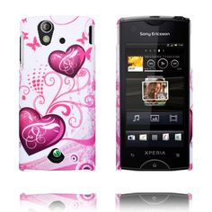 Valentine (Two Purple Hearts) Sony Ericsson Xperia Ray Cover