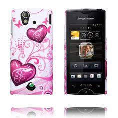 Valentine (Two Purple Hearts) Sony Ericsson Xperia Ray Cover