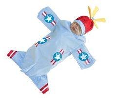 Bennett the Bomber Plane Newborn Costume Set - 355828 | trendyhalloween.com #infantcostumes