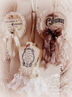 lace and ribbon lovelies #tags #crafts