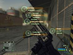 Crysis weapon upgrade interface