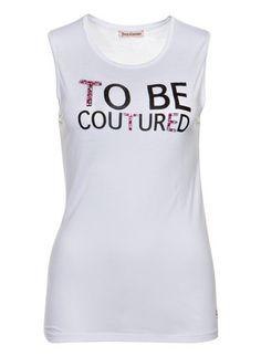 Juicy Couture Top mit Strassbesatz