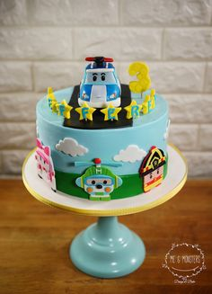 5th Birthday Cake, Birthday Diy, 1st Birthday Parties, Buttercream Cake, Fondant Cakes, Cars Theme Cake, Robocar Poli, Cakes For Men, Themed Cakes