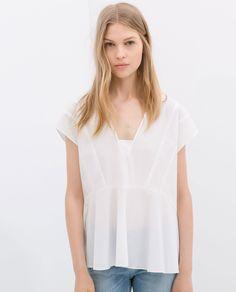Image 1 of FULL POPLIN TOP from Zara