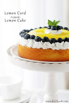 Lemon Curd-Topped Lemon Cake: Sweet and delicious Lemon Cake topped with a bright and creamy Lemon Curd.